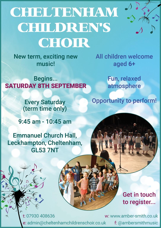 Childrens Choir poster September 2018