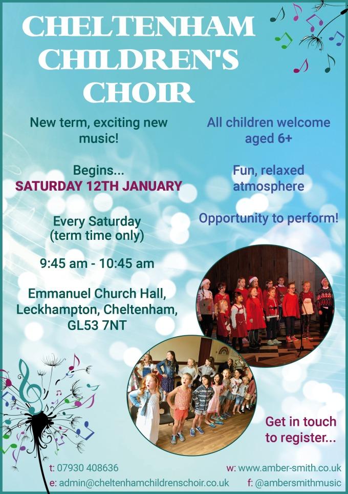Childrens Choir poster January 2019