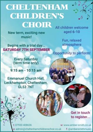 Childrens Choir poster September 2019