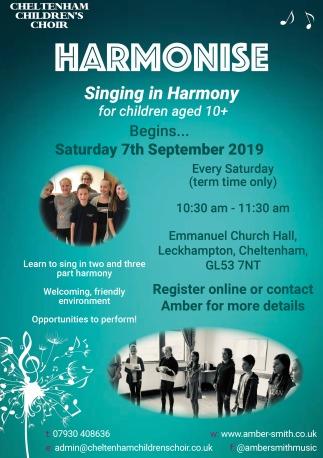 Harmonise Poster Summer 2019